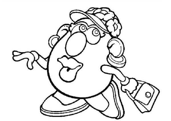 Mr Potato Head Coloring Page Inspiration Mrpotato Head Wife Want To Go Shopping Coloring Pages  Bulk Color Review