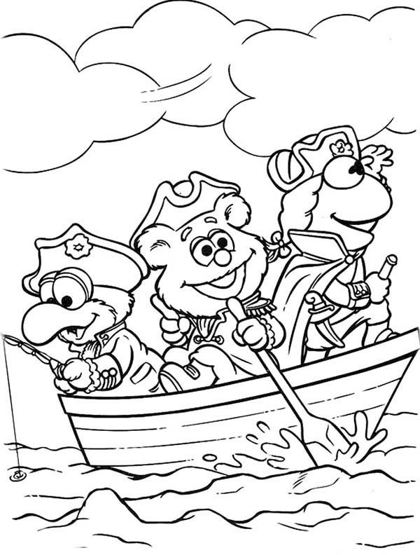 Muppet Babies, : Muppet Babies Become Sea Explorer Coloring Pages