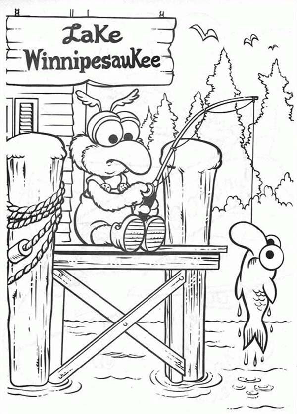 Muppet Babies, : Muppet Babies Fishing at Lake Winnipesauke Coloring Pages
