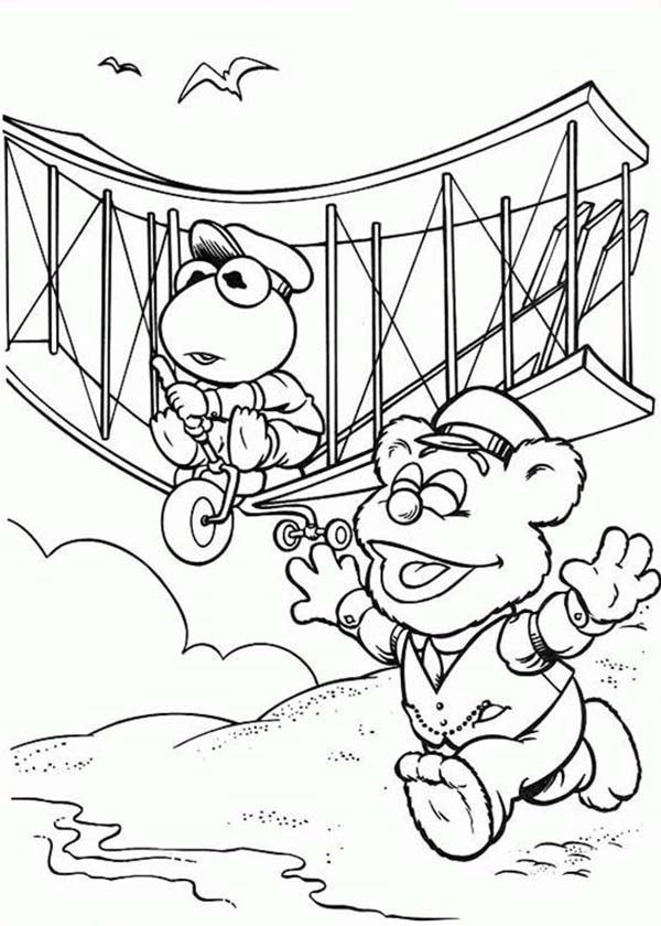 Muppet Babies, Muppet Babies Inventing Airplane Coloring Pages: Muppet Babies Inventing Airplane Coloring PagesFull Size Image