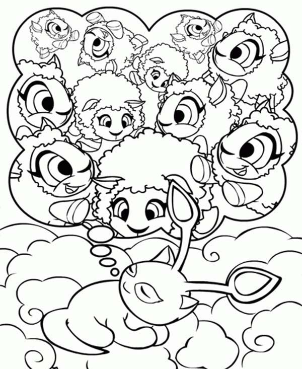 Neopets, : Neopets Dreaming About His Friends Coloring Pages
