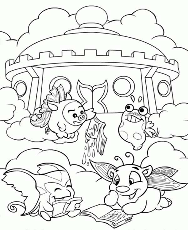Neopets, : Neopets Lazing in Front of Castle Coloring Pages