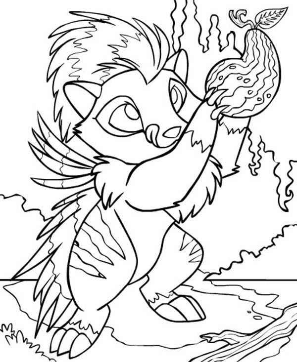 Neopets, : Neopets Picking Delicous Fruit Coloring Pages