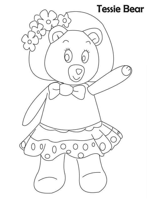 Noddy, : Noddy Friend Tessie Bear Coloring Pages