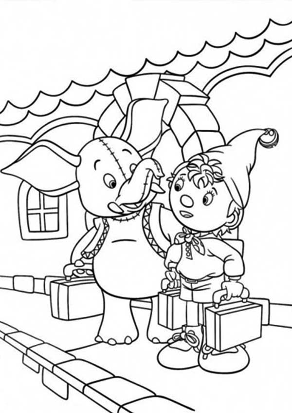 Noddy, : Noddy Meet Mr Jumbo Coloring Pages