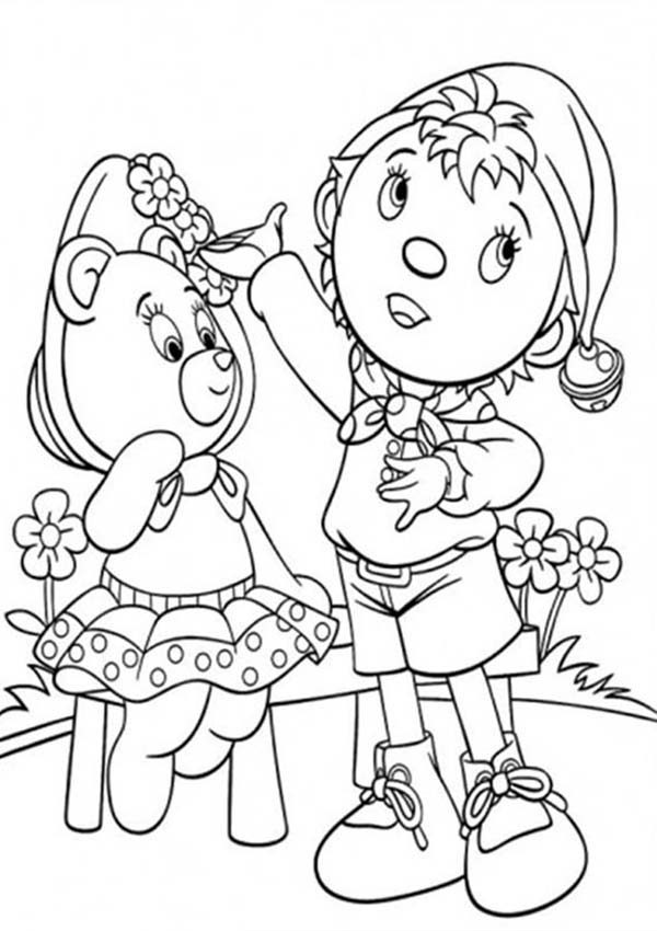 Noddy, : Noddy Talking to Tessie Bear Coloring Pages
