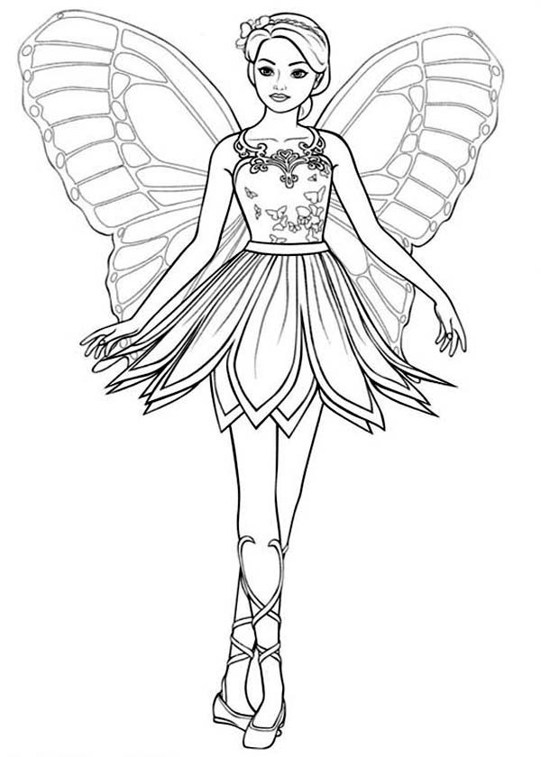 Barbie Mariposa Picture Of Coloring Pages