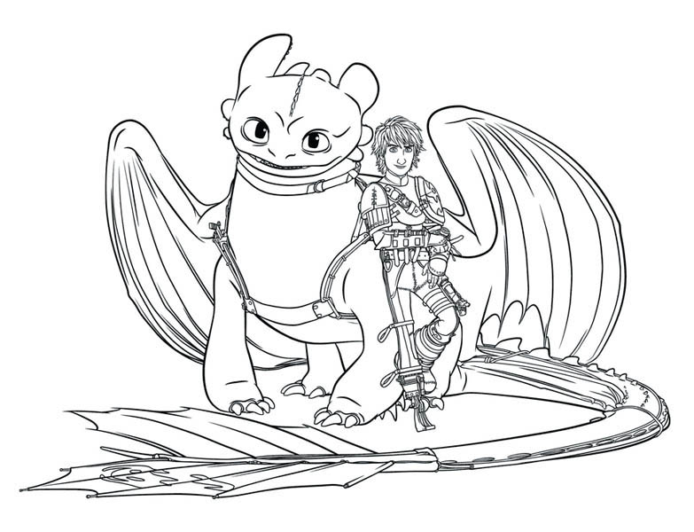 How To Train Your Dragon Picture Of Coloring Pages
