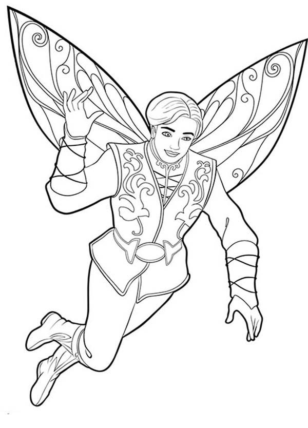 Barbie Mariposa Prince Carlos Look Great In Coloring Pages