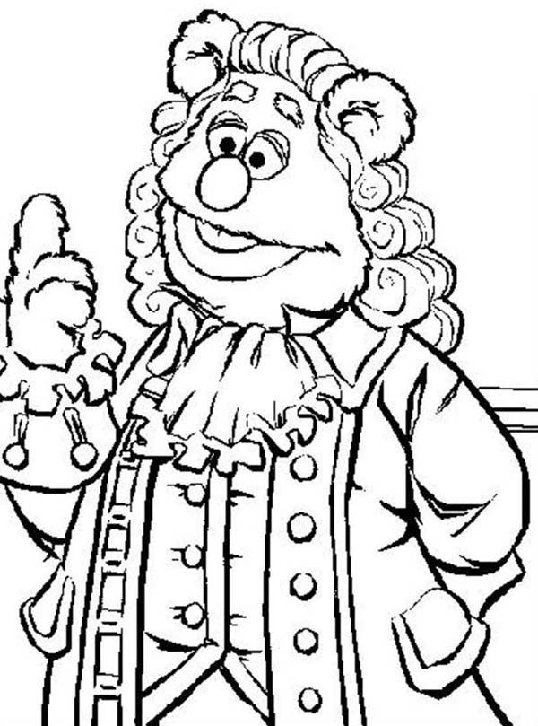 muppets coloring pages - muppets fozzie bear coloring pages coloring pages