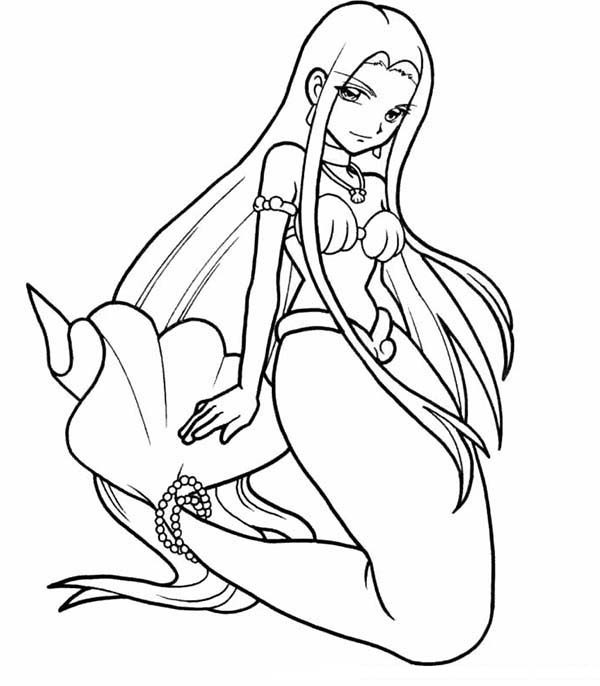 Mermaid, : Sara Mermaid Melody Coloring Pages
