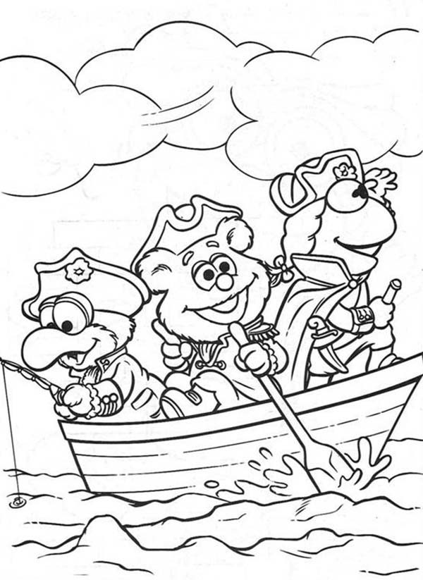 Muppet Babies, : Sea Adventurer Muppet Babies Coloring Pages