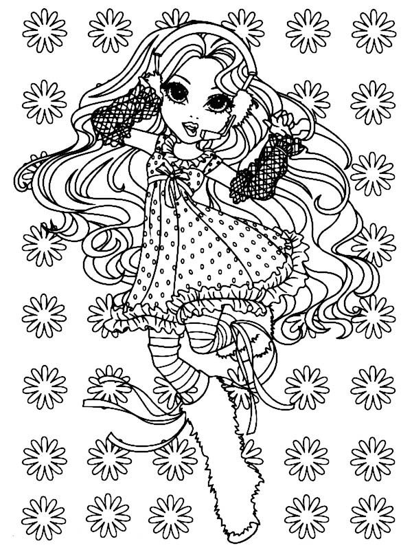 Moxie Girlz, : Sophina at Dance Club in Moxie Girlz Coloring Pages