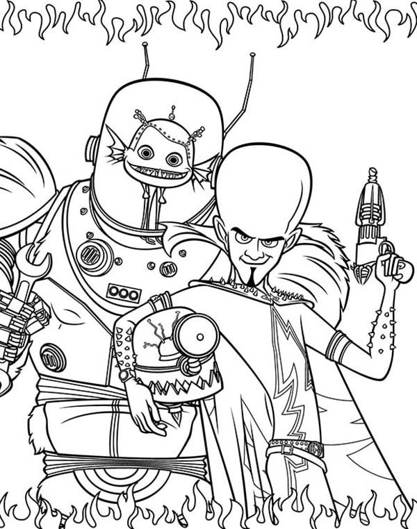 Megamind, : The Criminals from Megamind Film Coloring Pages