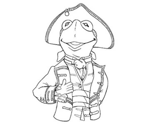 The Muppets, : The Muppets Kermit the Frog as Royal Soldier Coloring Pages