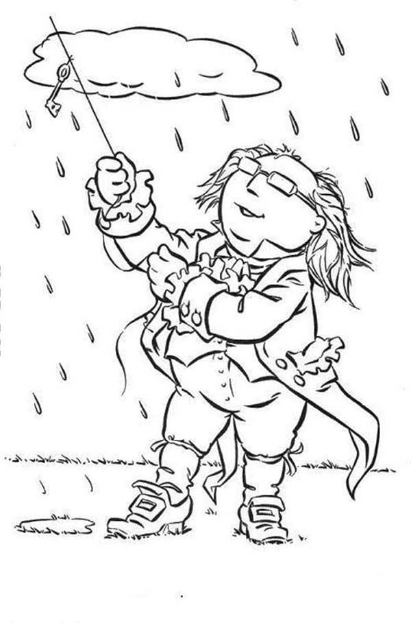 The Muppets, : The Muppets Show Doing Science in the Middle of the Rain Coloring Pages