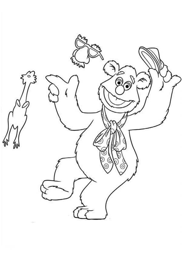 The Muppets, : The Muppets an His Undercover Mask Coloring Pages
