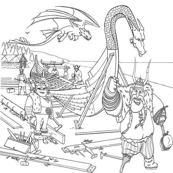 Vikings People from How to Train Your Dragon Coloring Pages   Bulk ...