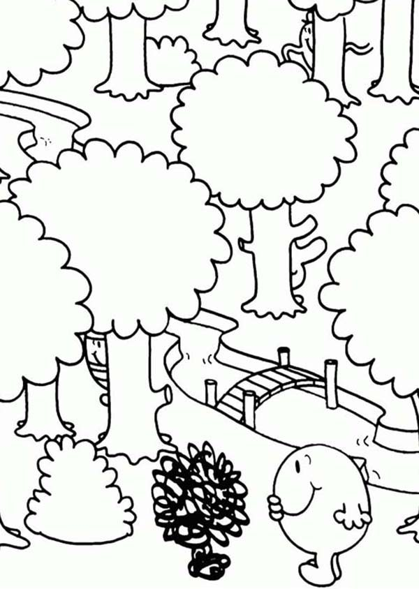 Mr Men and Little Miss, : Want to Across the Bridge in Mr Men and Little Miss Coloring Pages