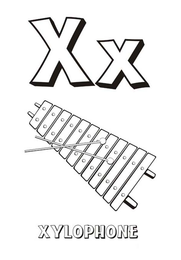 Xylophone Coloring Pages free