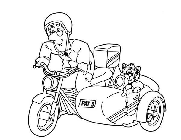 Awesome Picture of Postman Pat Coloring Pages Bulk Color
