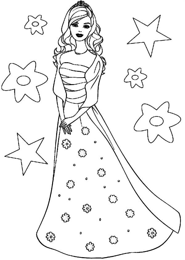 Barbie Princesses Birthday Coloring Pages