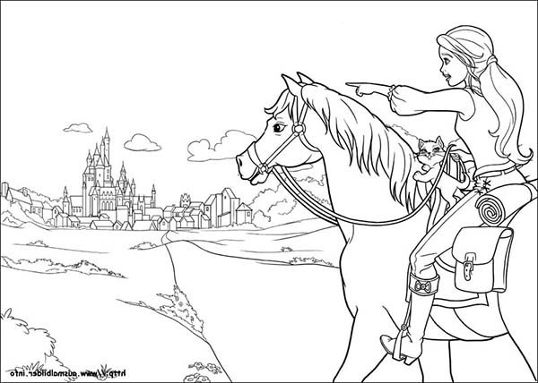 Barbie and Three Musketeers, : Barbie and Three Musketeers Coloring Pages Barbie Going to Town