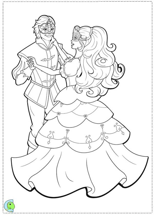Barbie and Three Musketeers, : Barbie and Three Musketeers Coloring Pages Dance with Prince