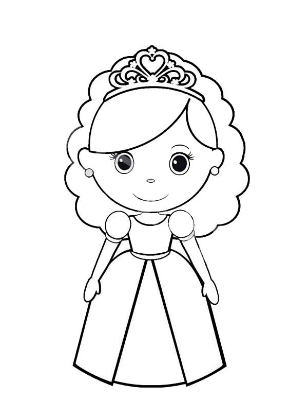 Princesses Birthday, : Chibi Princesses Birthday Coloring Pages