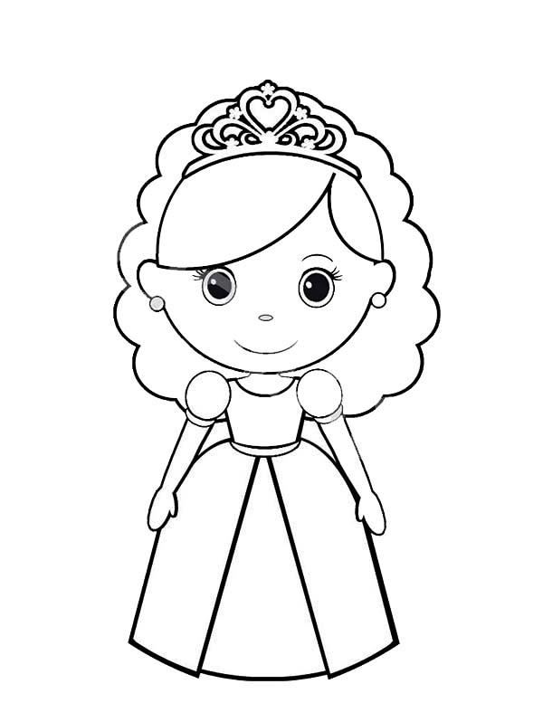 Chibi Princesses Birthday Coloring Pages Chibi Princesses