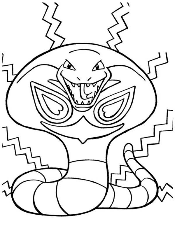 Cobra Snake Pokemon Coloring Pages
