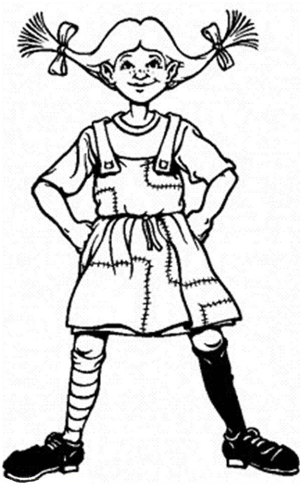 Pippi Longstocking, : Famous Pippi Longstocking Coloring Pages
