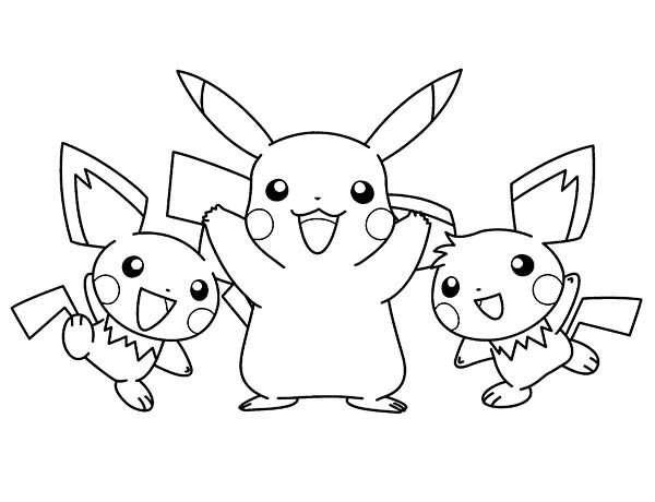 Famous Pokemon Character Pikachu Coloring Pages