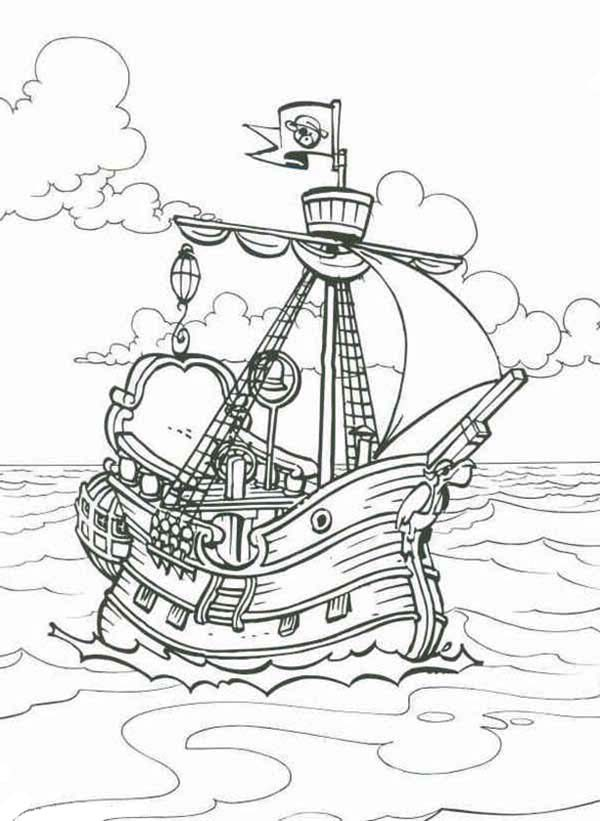 pirate ship coloring page coloring page