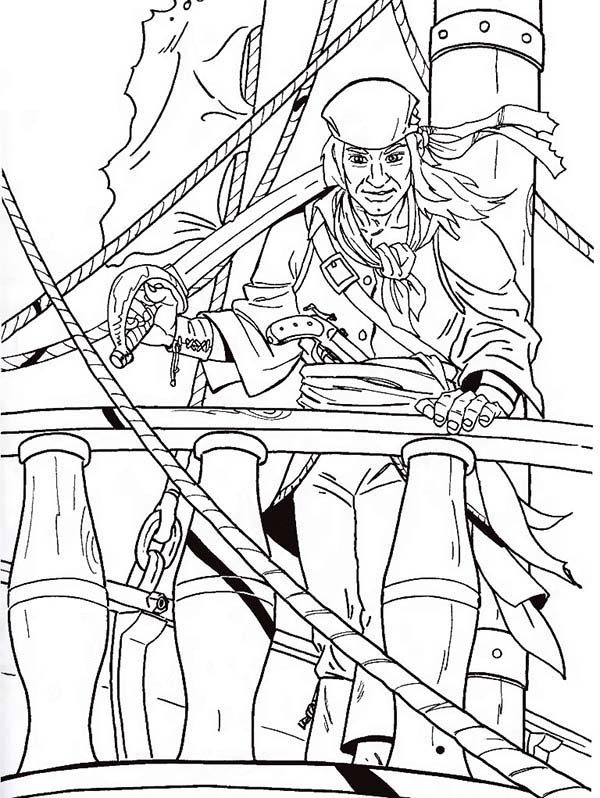 how to draw a pirate coloring pages