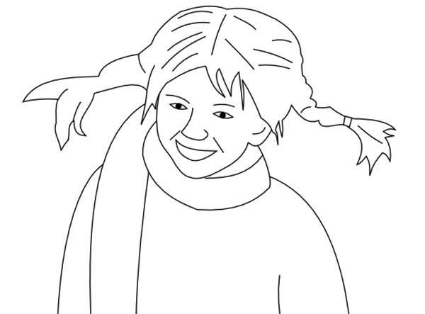Pippi Longstocking, : Kid Drawing Pippi Longstocking Coloring Pages