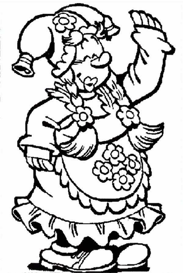Plop the Gnome, : Kwebbel Dressing Up for Party in Plop the Gnome Coloring Pages