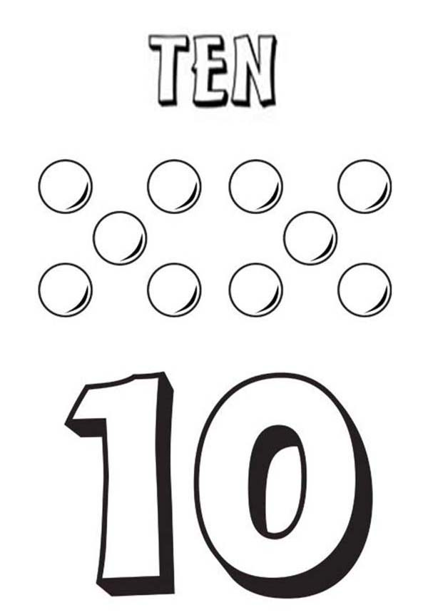 Number 10 Coloring Page Getcoloringpages Com Coloring Coloring Pages