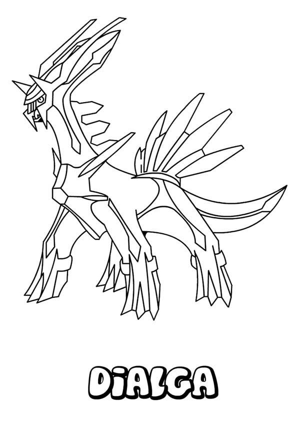 Legendary Pokemon Dialga Coloring Pages