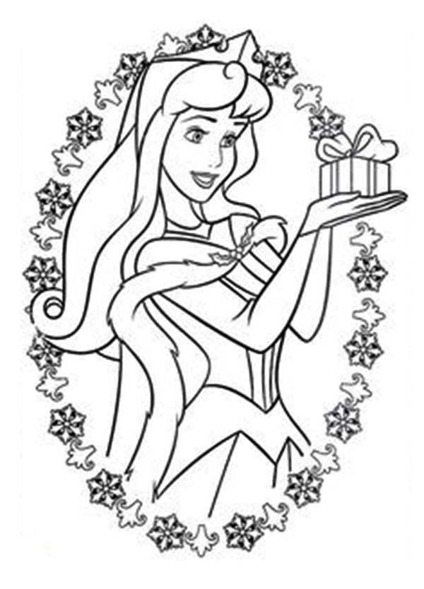 Princesses Birthday, : Little Present from Prince on Her Birthday in Princesses Birthday Coloring Pages