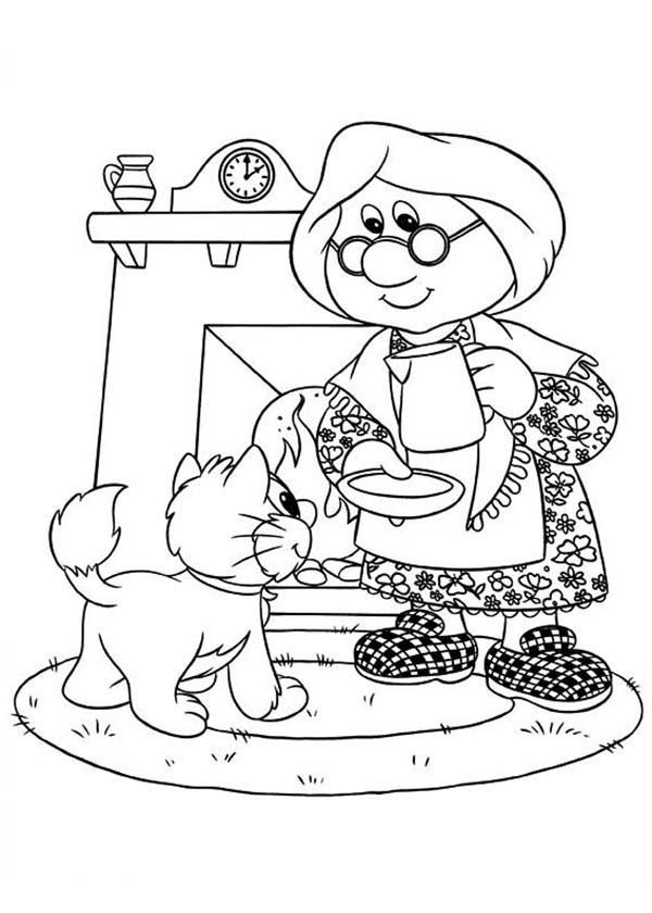 Postman Pat, : Mrs Goggins Give a Cat a Cup of Milk Postman Pat Coloring Pages