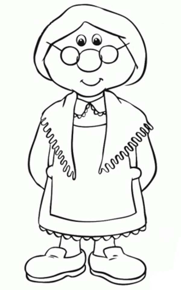 Mrs Goggins from Postman Pat Coloring Pages Bulk Color