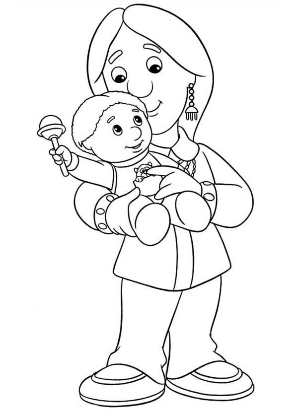Postman Pat, : Nisha Bains from Postman Pat Coloring Pages