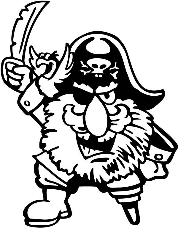 Piet Pirate, : Picture of Piet Pirate Coloring Pages