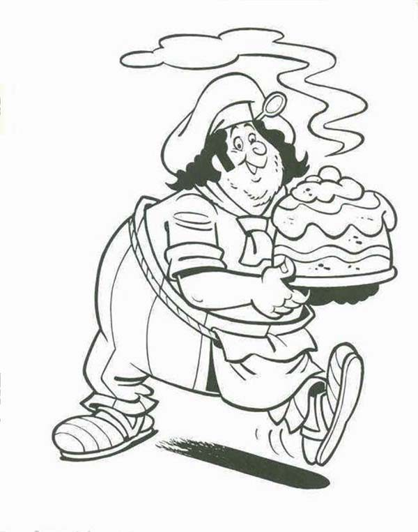 Piet Pirate, : Piet Pirate Chef Had Delicious Cake Coloring Pages