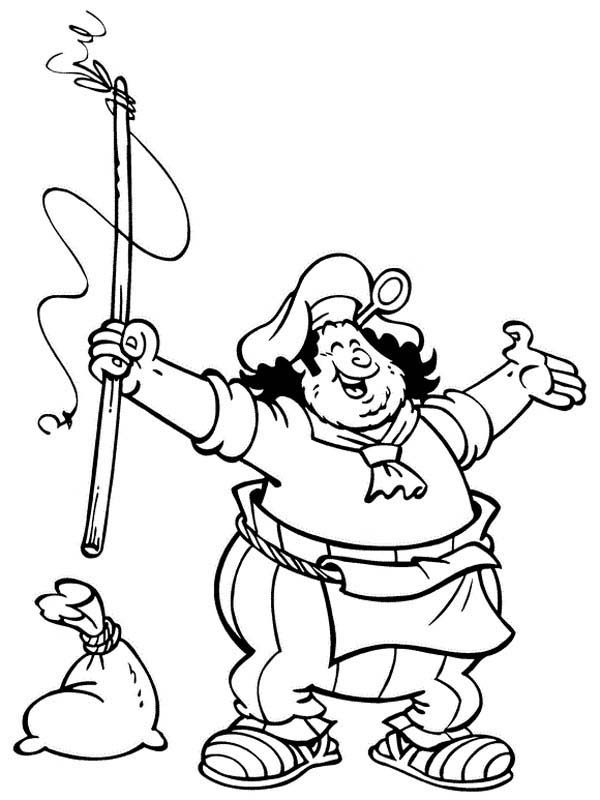 Piet Pirate, : Piet Pirate Want to Catch Big Fish Coloring Pages