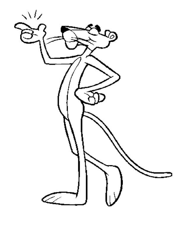 pink panther piece of cake coloring pages