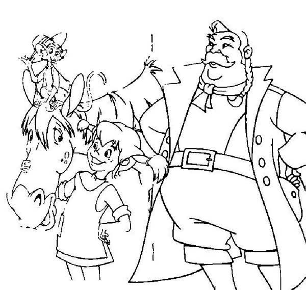 Pippi Longstocking, : Pippi Longstocking Love Her Horse Coloring Pages