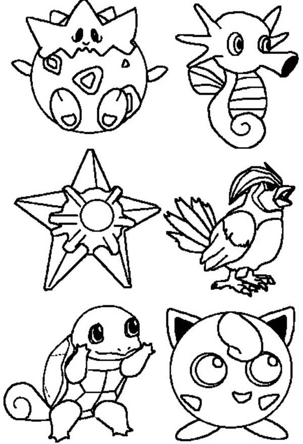 pokemon characters coloring pages - Coloring Pages Pokemon Characters