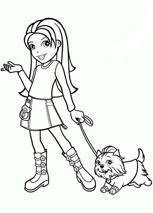 Polly Pocket Friend Lila and Her Kitten Coloring Pages | Bulk Color